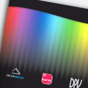 KARTE + DPV + DELTADISPLAY - design stand + brochure per expo