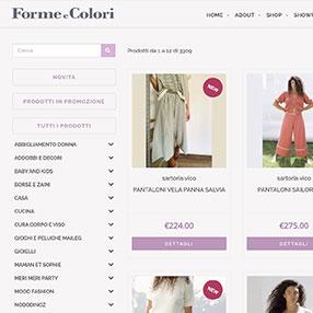 FORME e COLORI - sito web